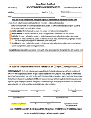 Form Medicaid Transportation - Fill Online, Printable, Fillable ...