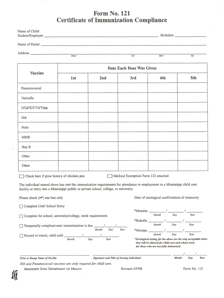 2008-2019 ms form 121 fill online  printable  fillable  blank