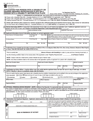 Mv145a Form - Fill Online, Printable, Fillable, Blank | PDFfiller