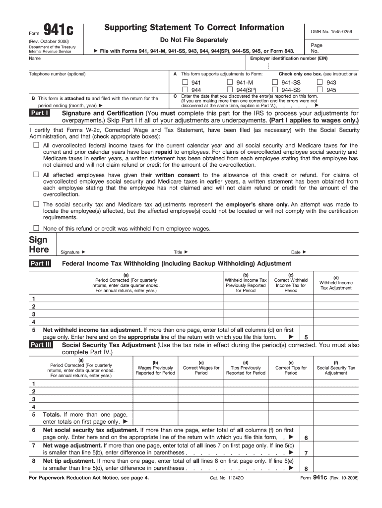 941 form correction  17-17 Form IRS 17c Fill Online, Printable, Fillable ...