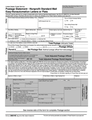 2015-2017 Form USPS PS 3602-NZ Fill Online, Printable, Fillable ...