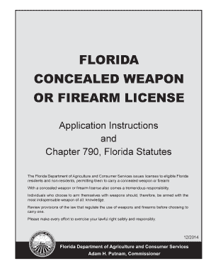 Fillable Online Concealed Weapon Application Instructions ...