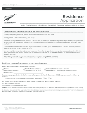2015-2017 Form NZ INZ 1000 Fill Online, Printable, Fillable, Blank ...