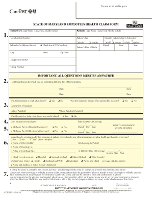 maryland state claim form 2014-2018