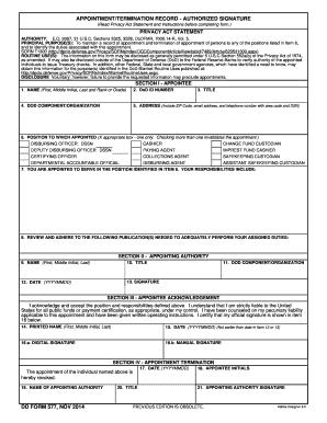 dd577 form Fill Online, Printable, Fillable, Blank - PDFfiller