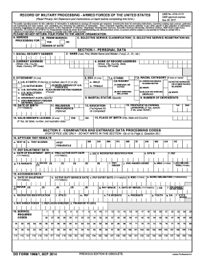 2014-2017 Form DD 1966/1 Fill Online, Printable, Fillable, Blank ...