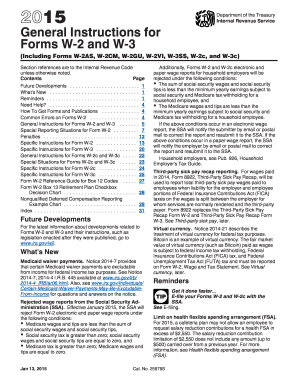 2016 Form IRS Instruction W-2 & W-3 Fill Online, Printable ...