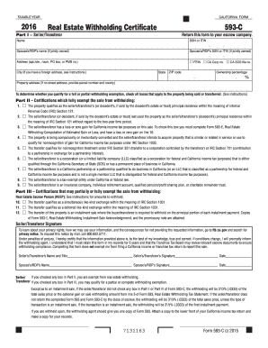 2017 Form CA FTB 593-C Fill Online, Printable, Fillable, Blank ...