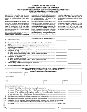 2015-2017 Form VA DoT VA-4P Instructions Fill Online, Printable ...