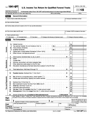 IRS 1041-QFT form | PDFfiller