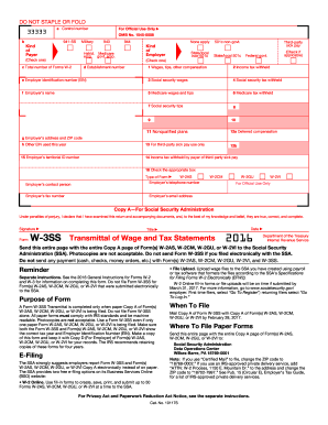 2017 Form IRS W-3SS Fill Online, Printable, Fillable ...
