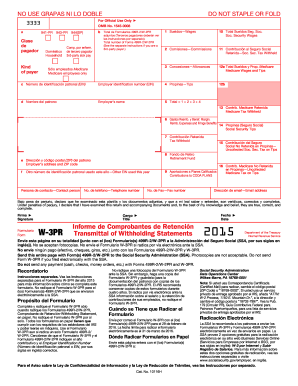 2016 Form IRS W-3PR Fill Online, Printable, Fillable, Blank ...