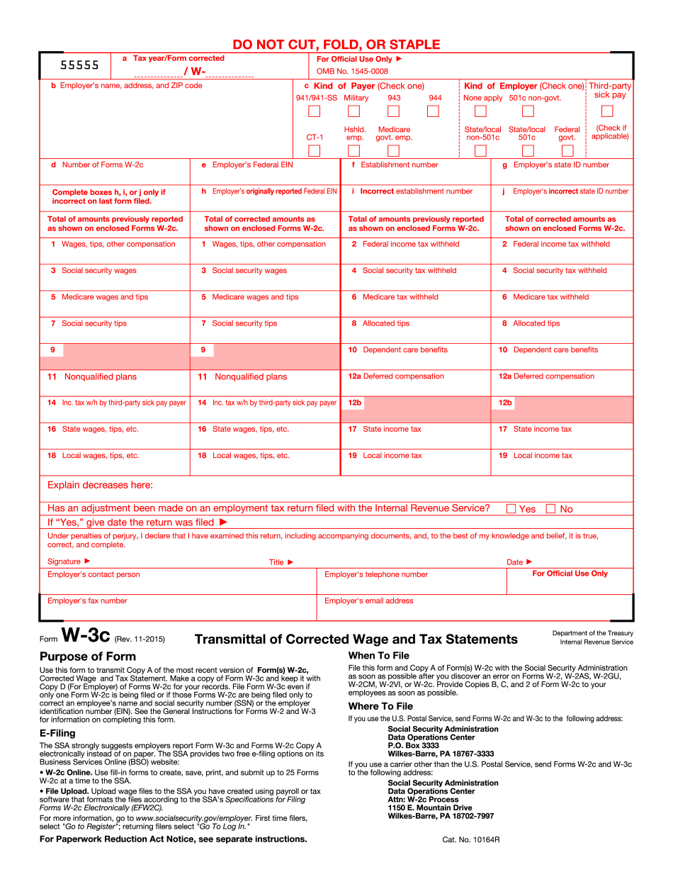 2015 w3 fillable form