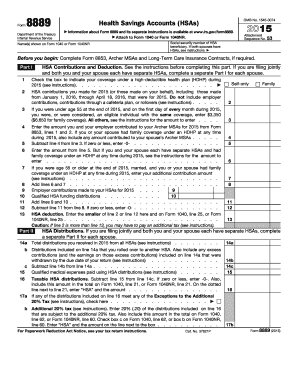 Irs 8889 Form Pdffiller