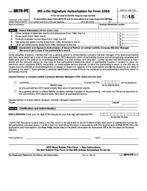 IRS 8879-PE form | PDFfiller