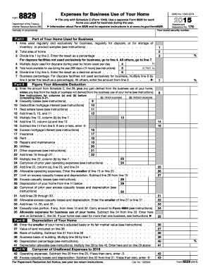 2015 Form IRS 8829 Fill Online, Printable, Fillable, Blank - PDFfiller