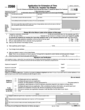 IRS 2350 form | PDFfiller