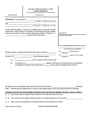 state bar of wisconsin forms 2003-2019