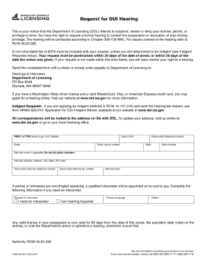 2015-2019 Form WA DoL HRNG-525-001 Fill Online, Printable ...
