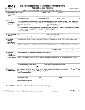 2015-2017 Form IRS W-12 Fill Online, Printable, Fillable, Blank ...