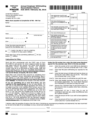 2015 Form MD Comptroller MW508 Fill Online, Printable, Fillable ...