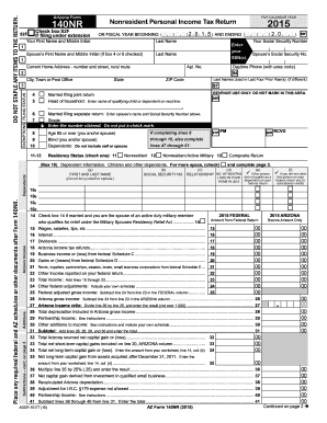 2014-2017 Form AZ DoR 140NR Fill Online, Printable, Fillable ...