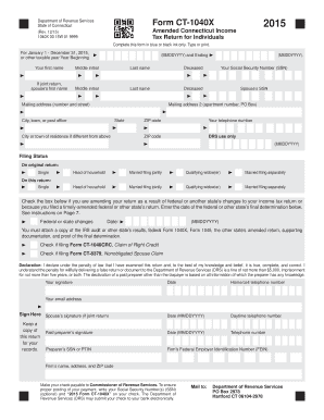 ct 1040x  how to fill 2015  form