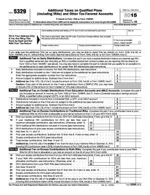 Form 5329 2015 Cogu Lessecretsdeparis Co