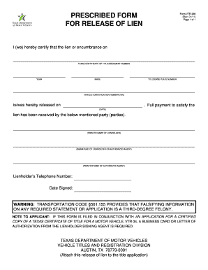 134 Printable Lien Release Form Templates - Fillable Samples