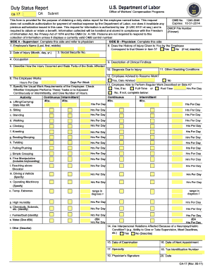 2011-2017 Form DoL CA-17 Fill Online, Printable, Fillable, Blank ...