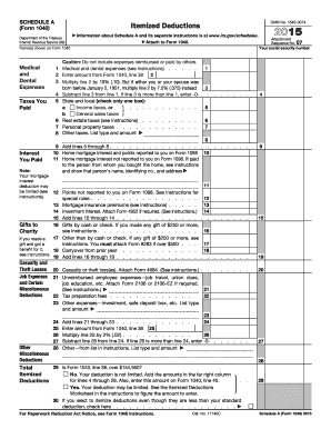 2016 Form IRS 1040 - Schedule A Fill Online, Printable, Fillable ...