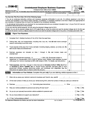 2014 Form IRS 2106-EZ Fill Online, Printable, Fillable, Blank ...