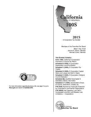 2016 Form CA FTB 100S Tax Booklet Fill Online, Printable, Fillable ...