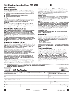 2016 Form CA FTB 3522 Fill Online, Printable, Fillable, Blank ...