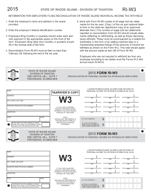 2015-2017 Form RI DoT RI-W3 Fill Online, Printable, Fillable ...