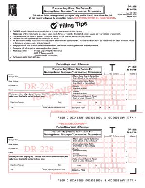 2016 2018 Form FL DoR DR 228 Fill Online Printable Fillable Blank