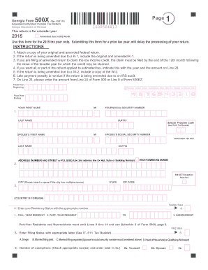 2015-2017 Form GA DoR 500X Fill Online, Printable, Fillable, Blank ...
