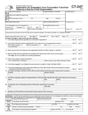 2015-2017 Form NY DTF CT-247 Fill Online, Printable, Fillable ...