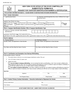 2013 Form NY Substitute Form W-9 Fill Online, Printable ...