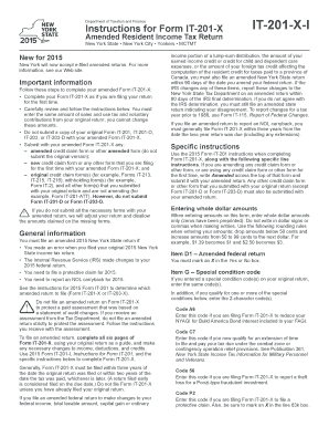 2015 new york state instructions form Fill Online, Printable ...