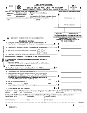 2015 2018 form sc dor st 3 fill online printable fillable blank