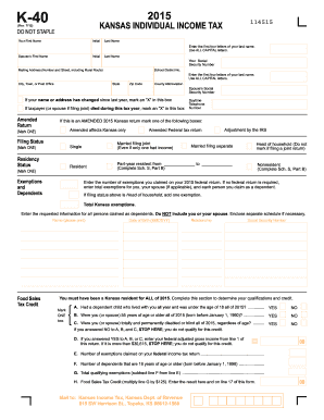 2015-2017 Form KS DoR K-40 Fill Online, Printable, Fillable, Blank ...