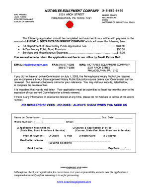 2014-2017 Form PA Notary Public Application Fill Online, Printable ...