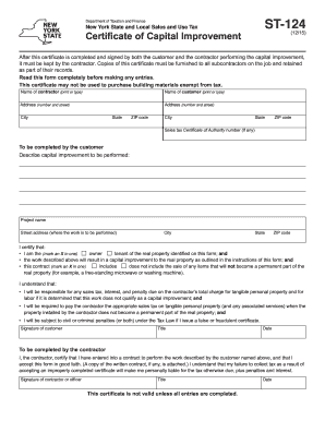 2015-2017 Form NY DTF ST-124 Fill Online, Printable, Fillable ...