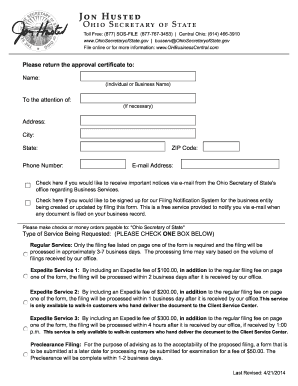 2014-2017 Form OH SOS 522 Fill Online, Printable, Fillable, Blank ...