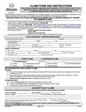 Allstate Claim Form Instructions - Fill Online, Printable ...