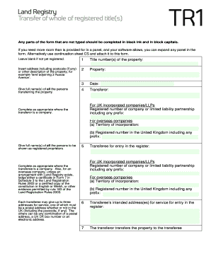 2015-2017 Form UK TR1 Fill Online, Printable, Fillable, Blank ...