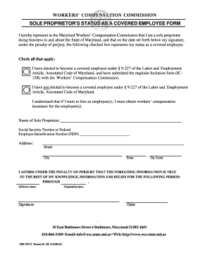 2015-2017 Form MD WCC IC-02 Fill Online, Printable, Fillable ...