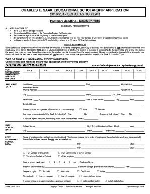 2016-2018 Form Charles E. Saak Educational Scholarship Application on scholarship information, transcript request form, financial aid form, scholarship essay on leadership, scholarship clip art, scholarship statement of purpose, scholarship quotes, eligibility form, scholarship money, scholarship banner, scholarship app, scholarship program flyer, scholarship checklist, scholarship essay examples, scholarship logo, scholarship deadlines, scholarship requirements, scholarship icon, scholarship notification, scholarship opportunities,