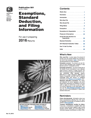 2015 form irs publication 501 fill online printable for Table 6 irs publication 501